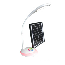 Solar table light with flexible hose and atmosphere color